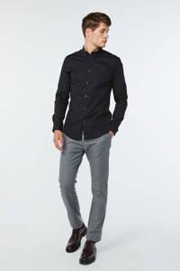 WE Fashion slim fit overhemd zwart, Zwart