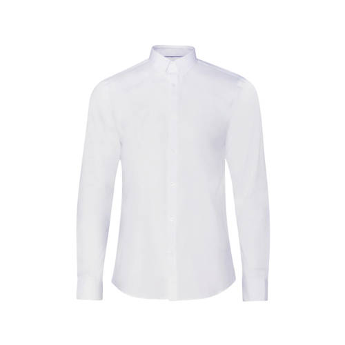 WE Fashion Fundamentals slim fit overhemd wit