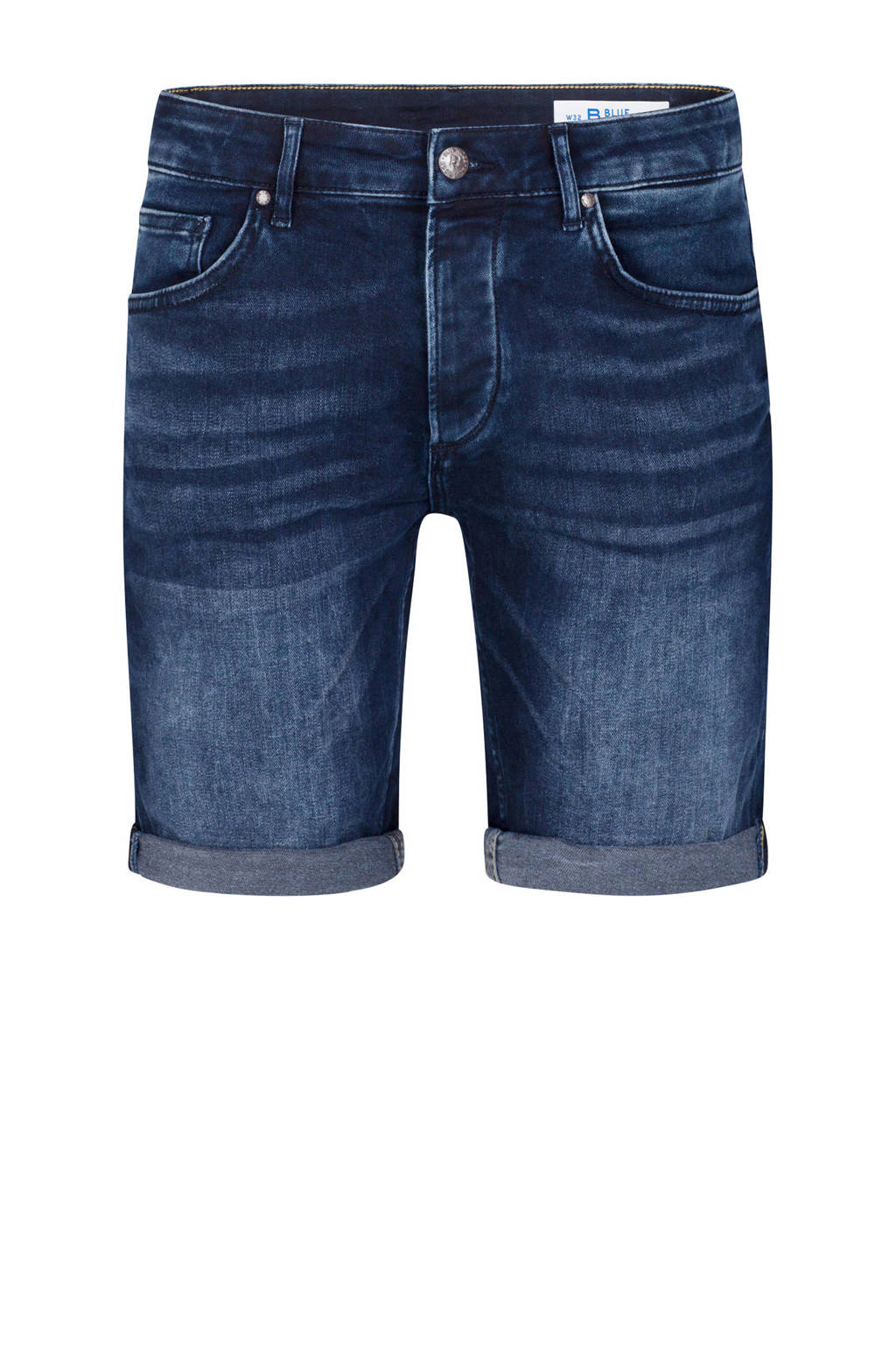 WE Fashion Blue Ridge regular fit jeans short Renz Rex, Blue black