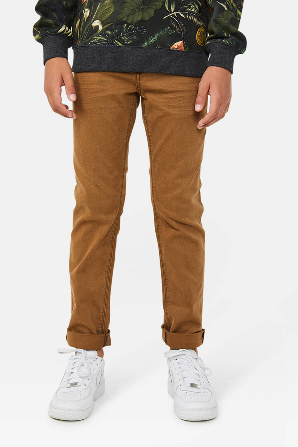 WE Fashion Blue Ridge regular fit jeans  Vicenze Pepper bruin, Bruin