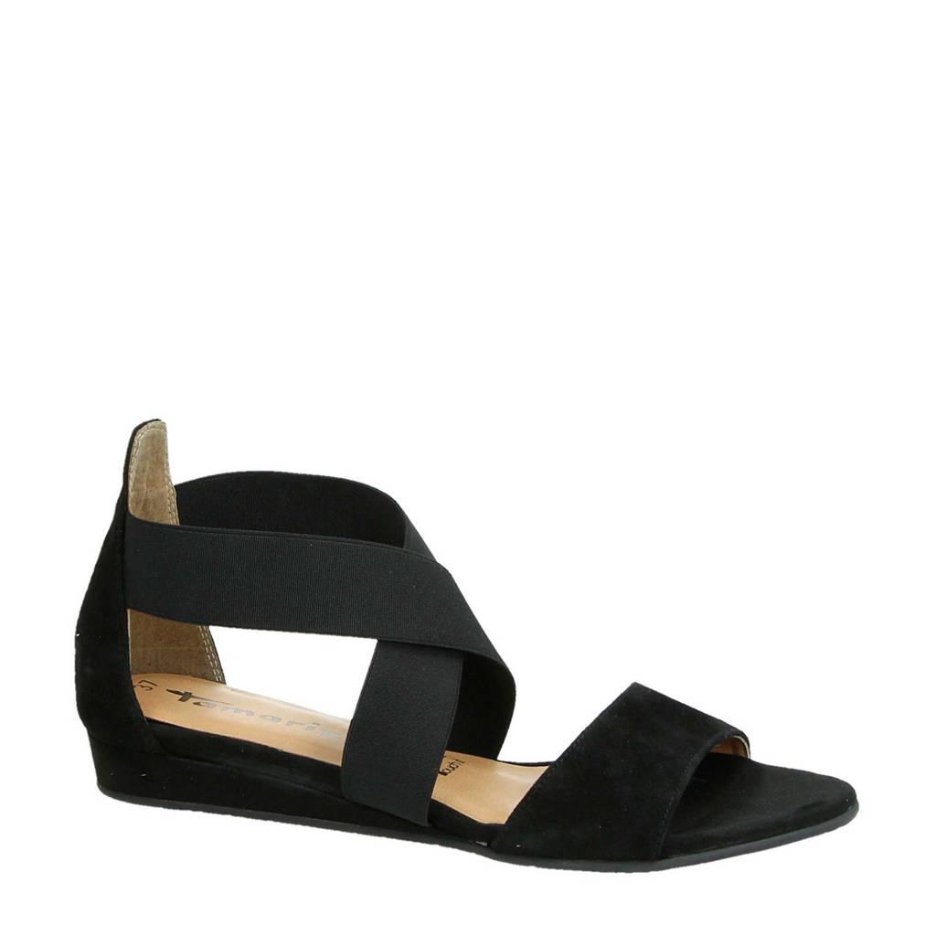 Tamaris sandalen zwart, Zwart