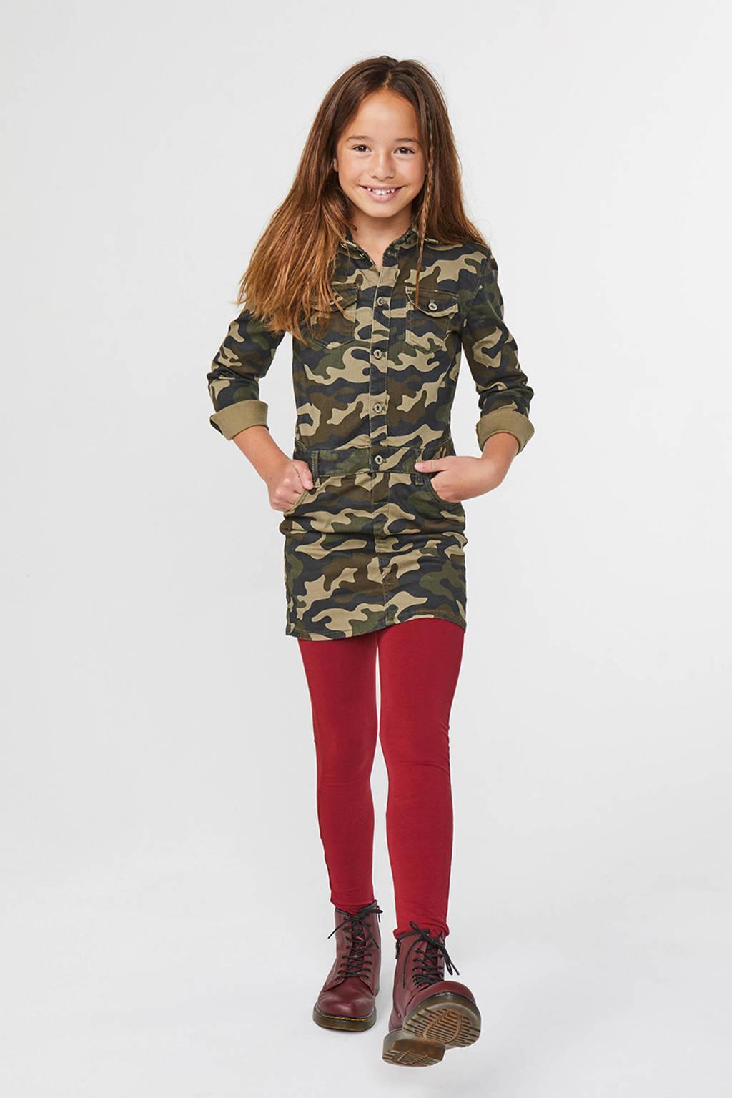 WE Fashion legging donkerrood, Donkerrood