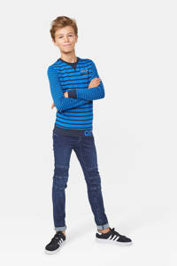 WE Fashion gestreepte longsleeve blauw, Blauw