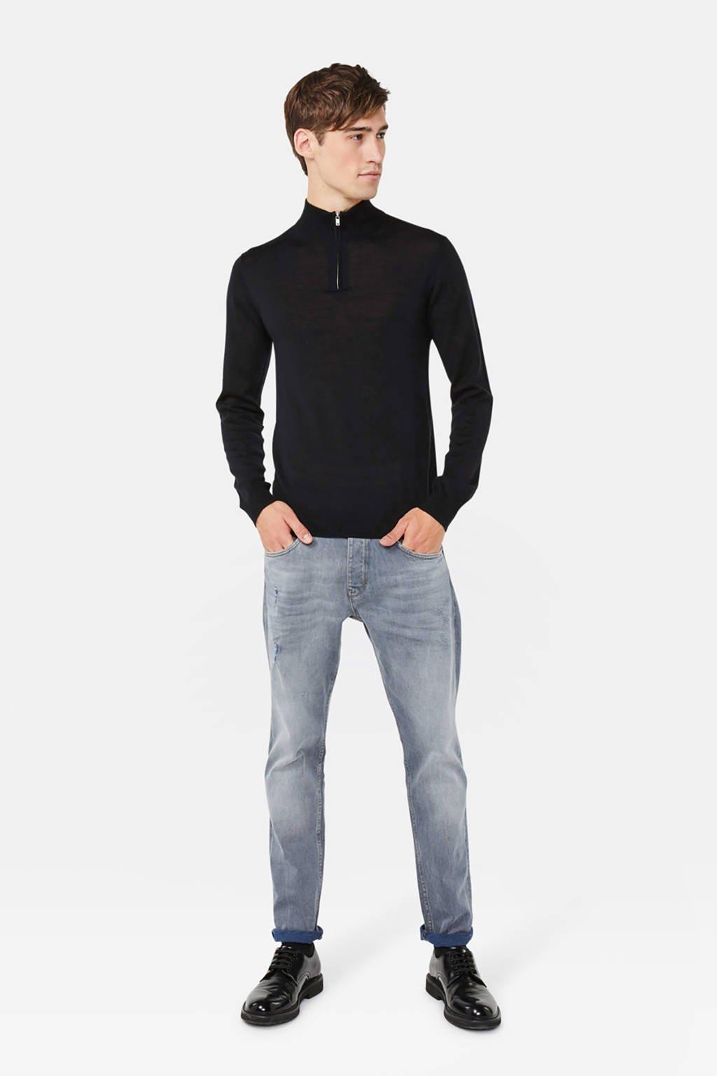WE Fashion wollen trui zwart, Zwart