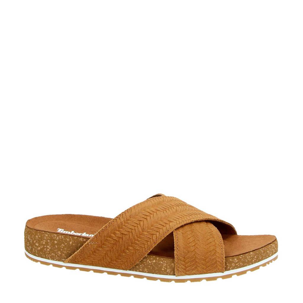 Timberland Malibu Waves suède slippers cognac, Cognac