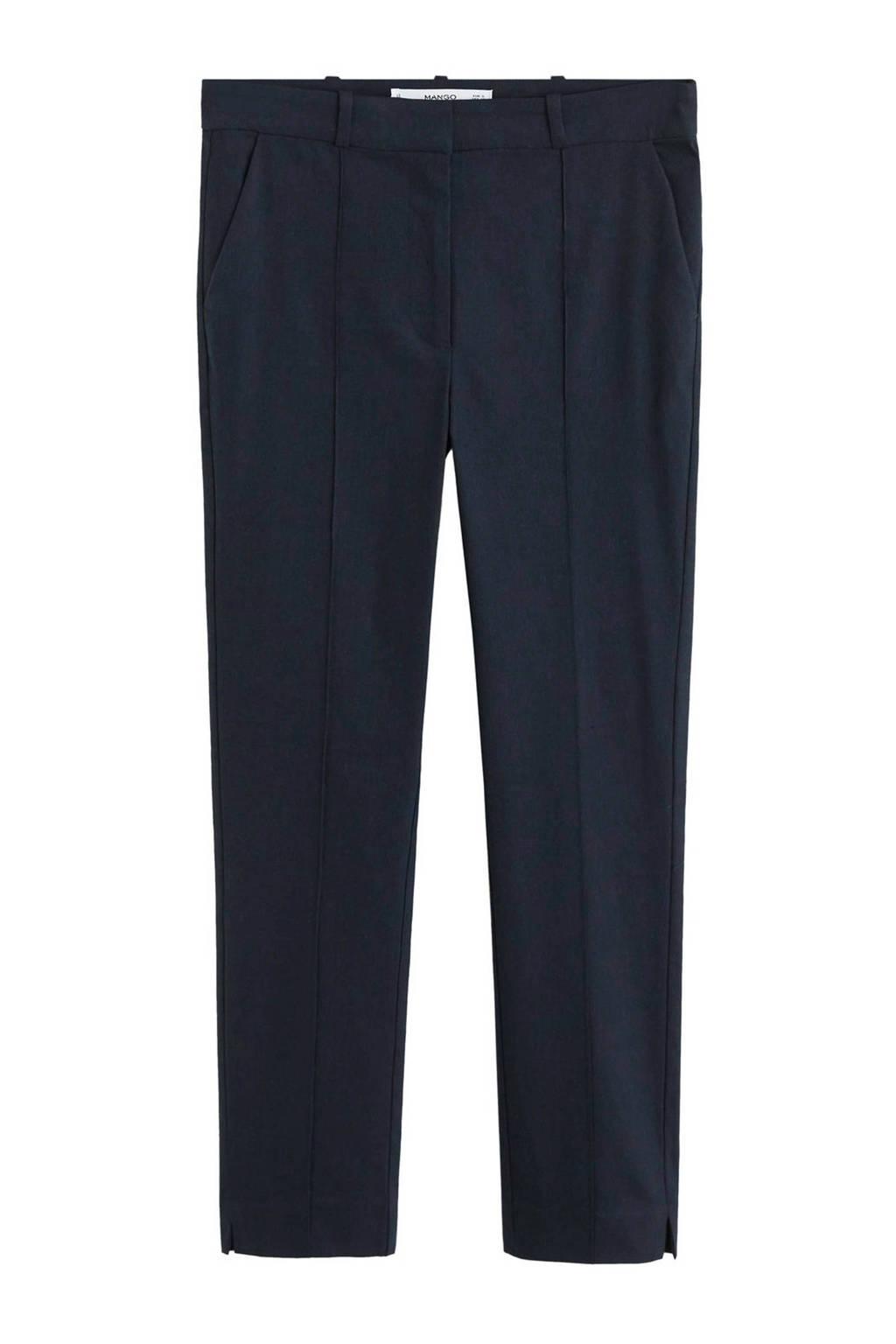 Mango skinny fit pantalon donkerblauw, Donkerblauw