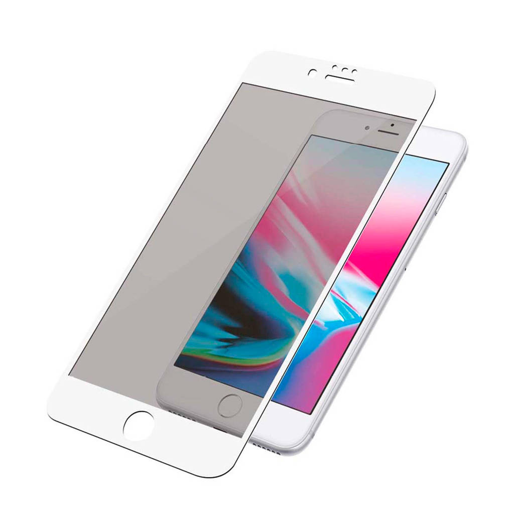 PanzerGlass iPhone 6/6S/7/8 Privacy Camslider screenprotector, Transparent,White