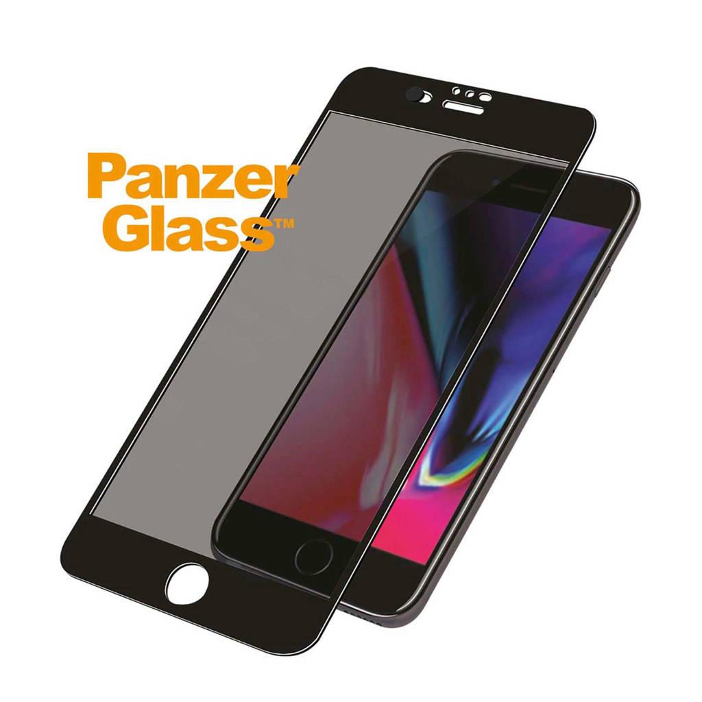 PanzerGlass iPhone 6/6S/7/8 Privacy Camslider screenprotector, Transparant/zwart
