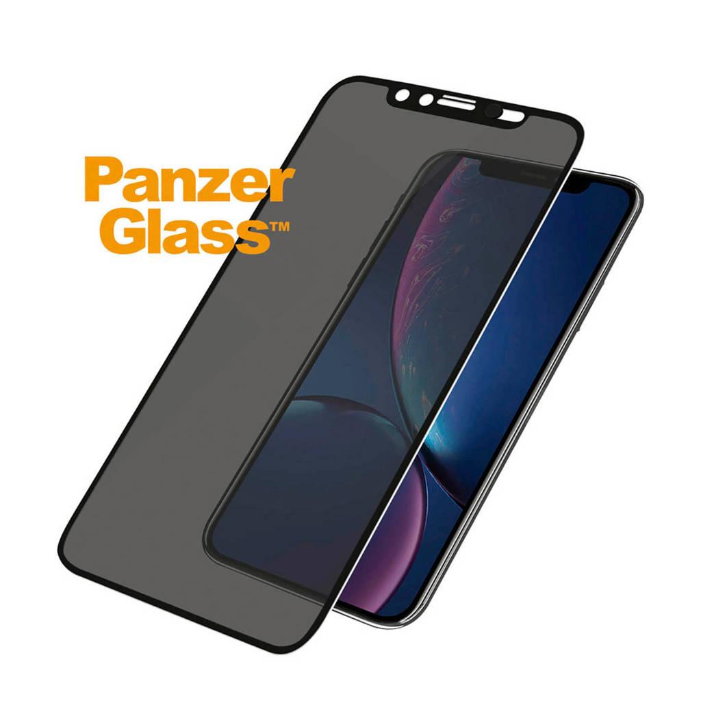 PanzerGlass screenprotector iPhone XR camslider, Transparant/zwart
