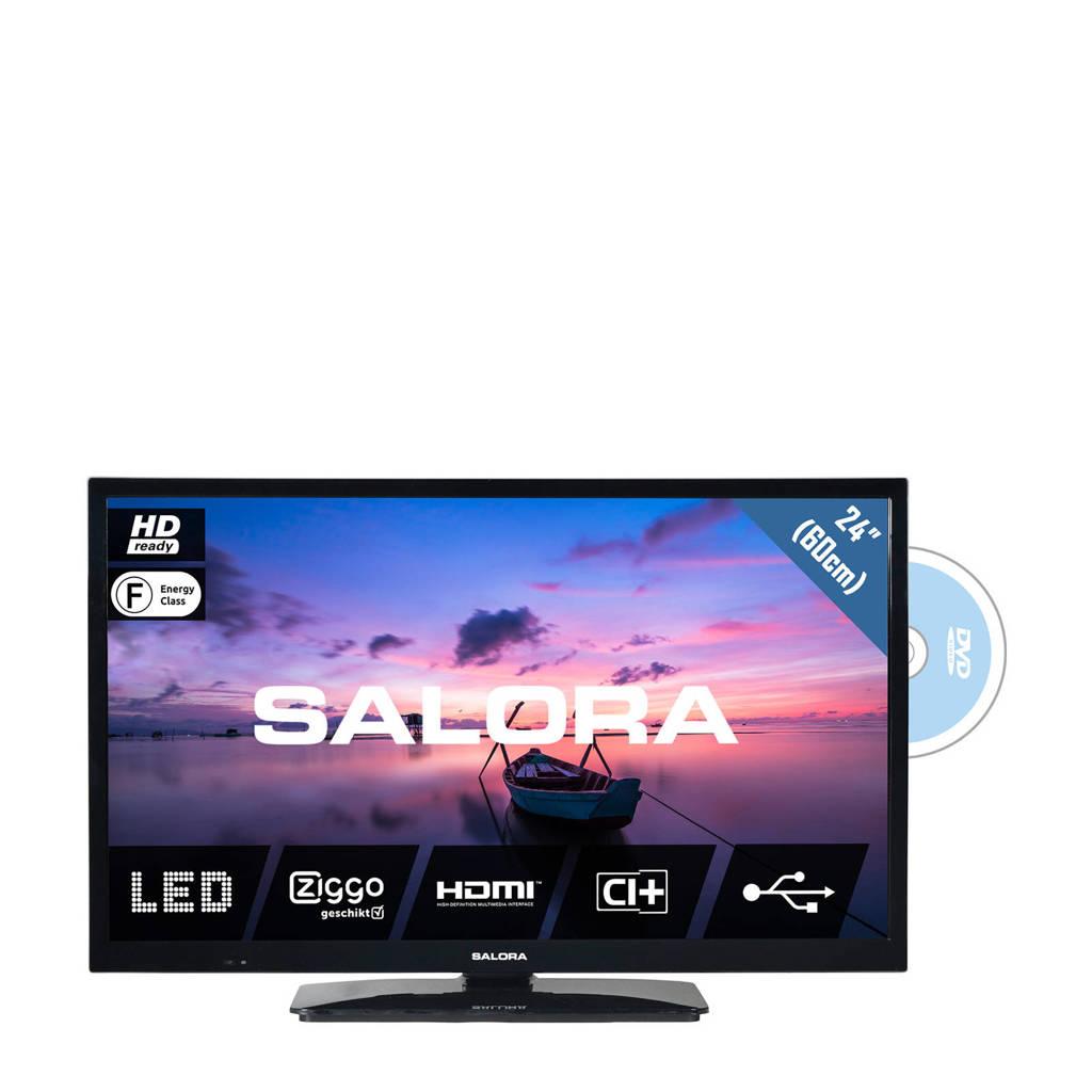 Salora  HD Ready tv met ingebouwde DVD speler, Zwart