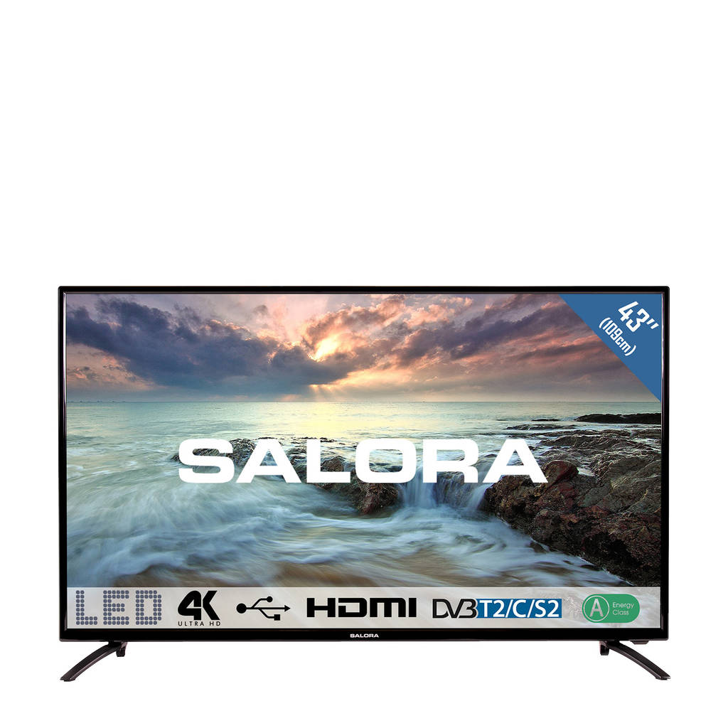 Salora  43UHL2800 4K Ultra HD LED tv, Zwart