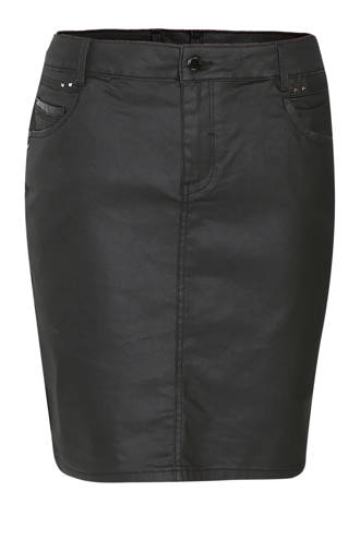 coated rok zwart