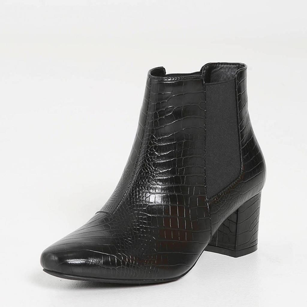 Paprika   chelsea boots brede pasvorm zwart, Zwart