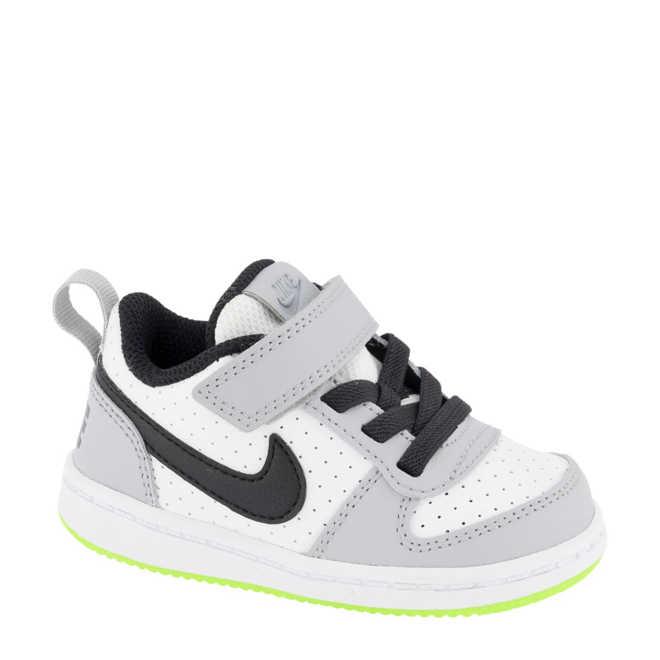 0d5e773e222 Nike. Court Borough Low sneakers wit/grijs