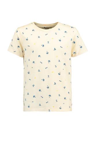 T-shirt Elco met palmbomen ecru