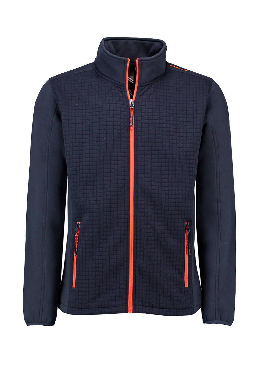 Kjelvik   fleece jack zwart, Navy
