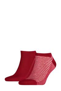 Levi's sneakersokken set van 2 rood, Donkerrood