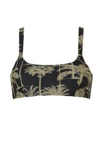 BEACHWAVE bikinitop zwart/groen, Zwart/groen