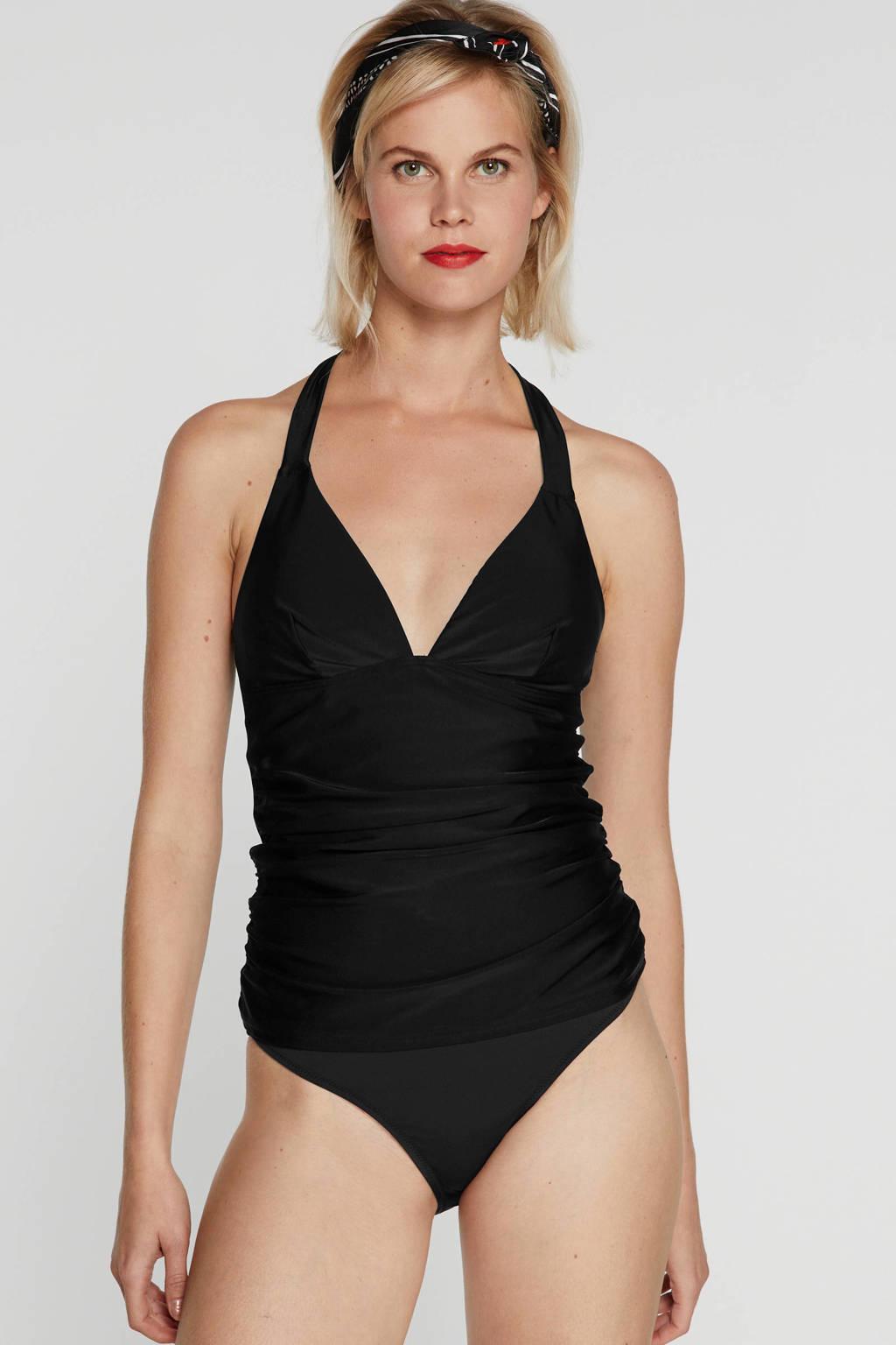 BEACHWAVE tankini bikinitop zwart, Zwart