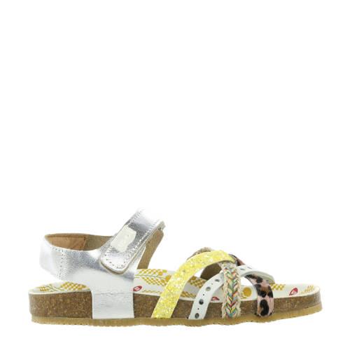 Red Rag leren sandalen zilver/geel kopen
