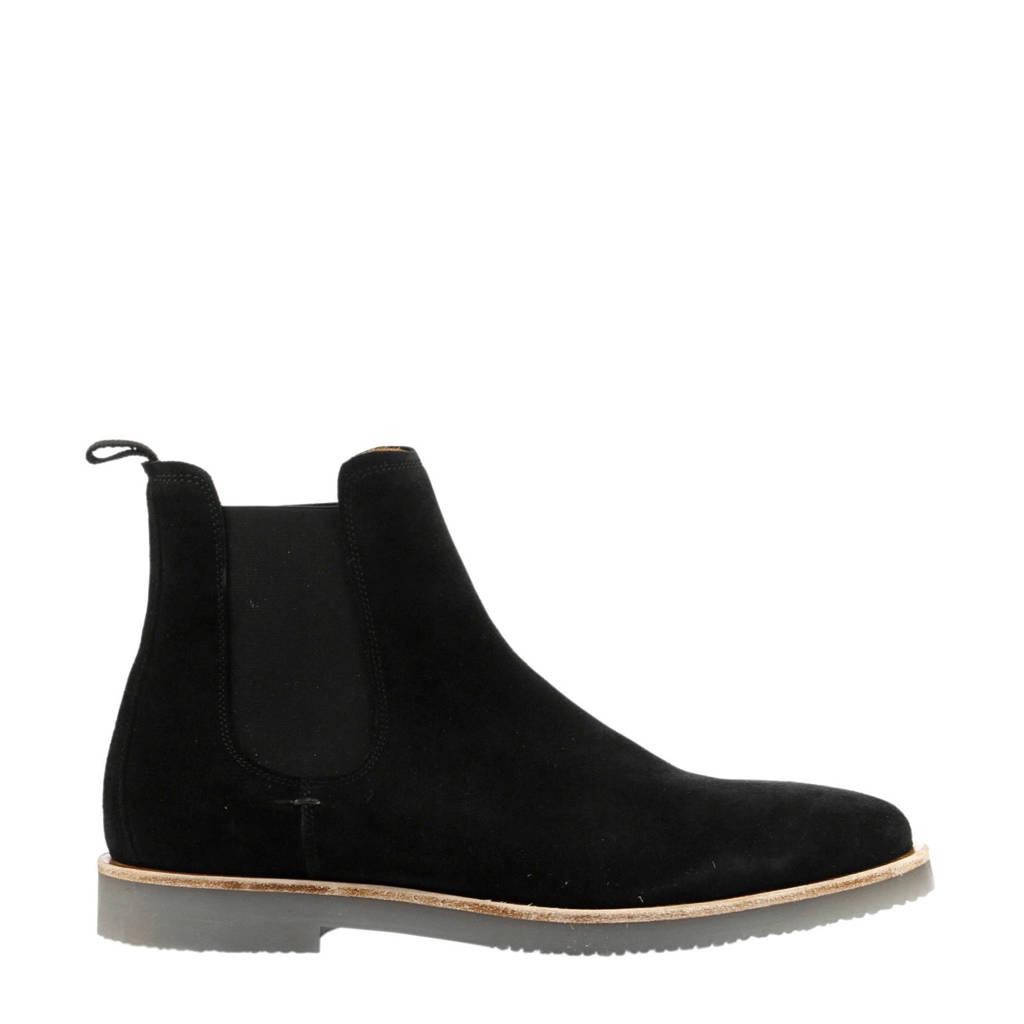 By Berry suède chelsea boots zwart, Zwart