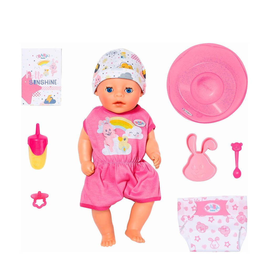 BABY born soft touch little girl 36 cm babypop