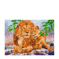 Diamond Dotz lion family diamond dotz: 76x55 cm