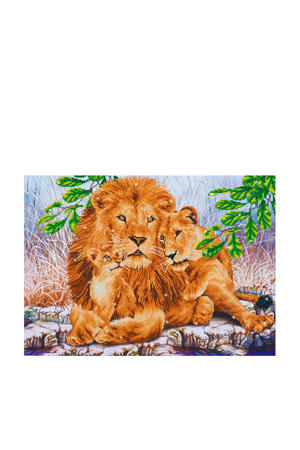 lion family diamond dotz: 76x55 cm