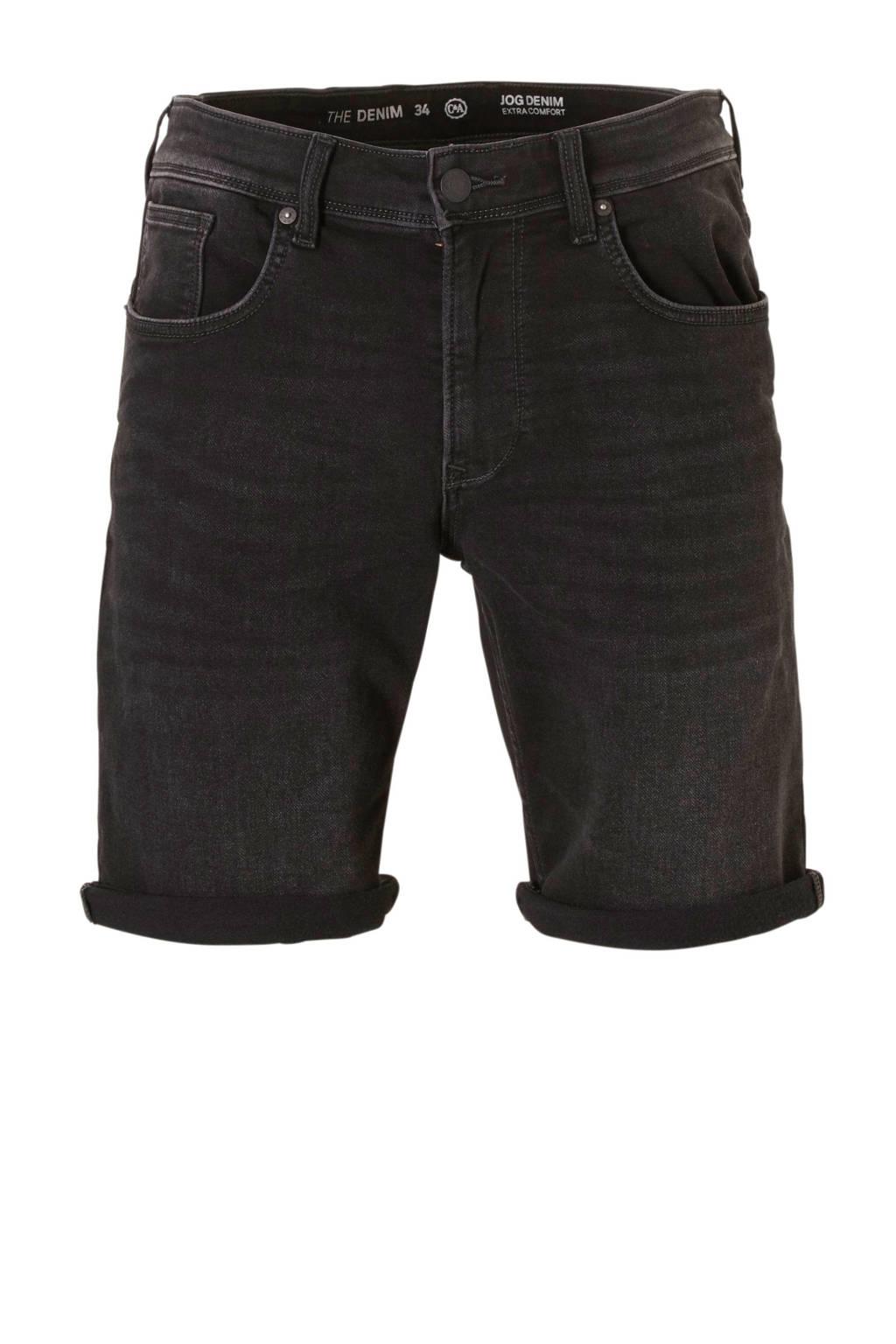 C&A The Denim regular fit jeans short, Zwart