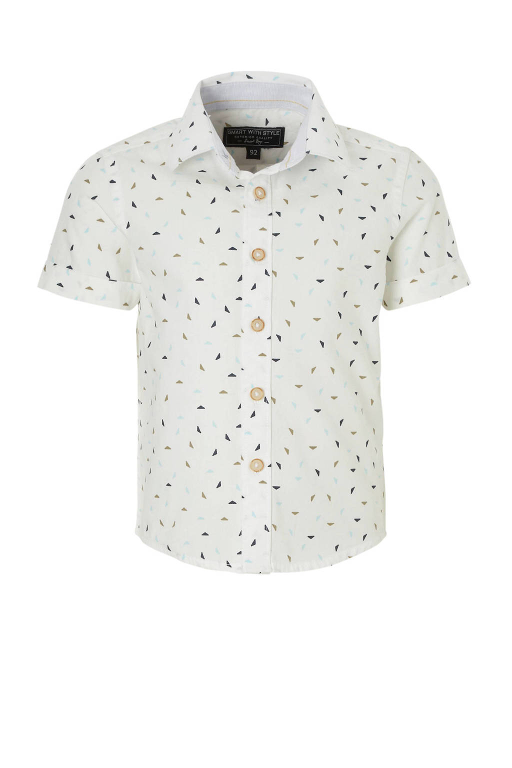 C&A Palomino overhemd met all over print ecru, Ecru