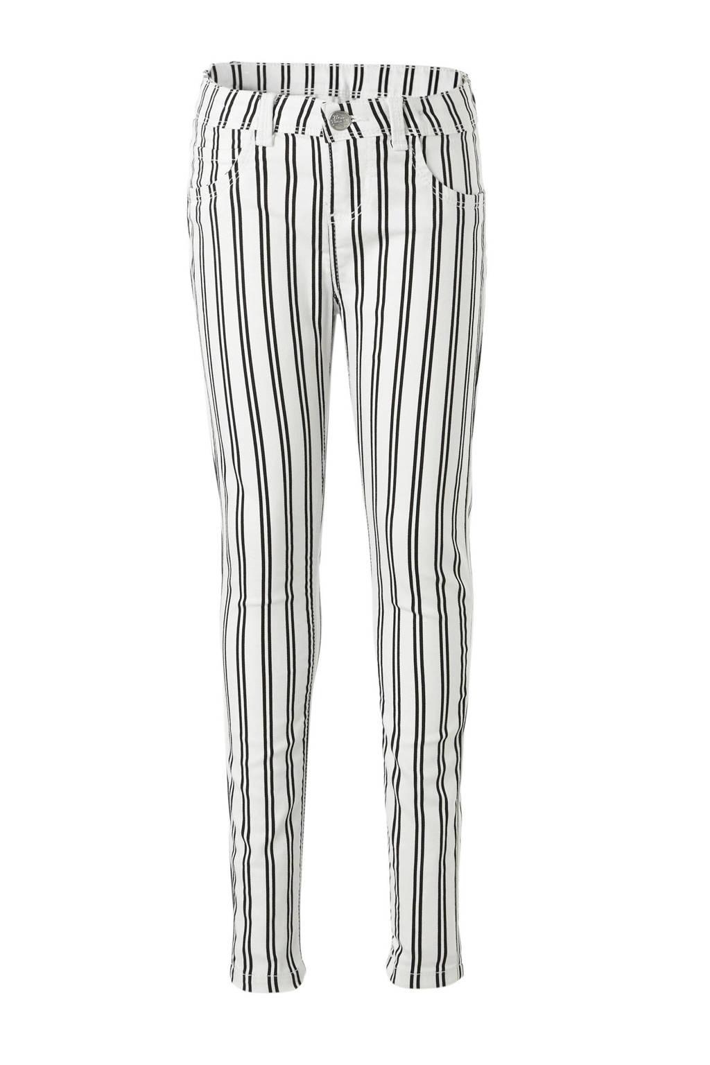 Verwonderend C&A Here & There gestreepte skinny jeans zwart/wit   wehkamp HK-99
