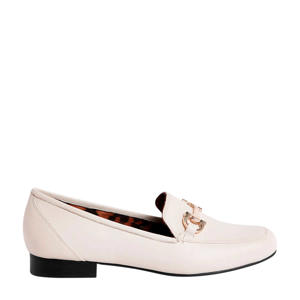 leren loafers wit