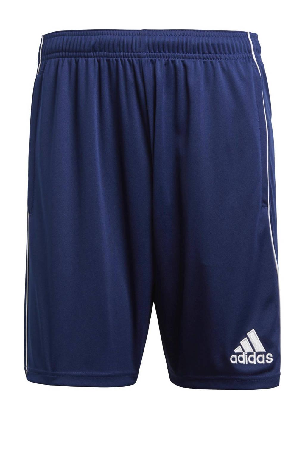 adidas   Core 18 sportshort donkerblauw, Donkerblauw/wit