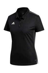 adidas Performance sportpolo Core 18 zwart, Zwart/wit