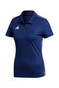 adidas Performance sportpolo Core 18 donkerblauw, Donkerblauw/wit