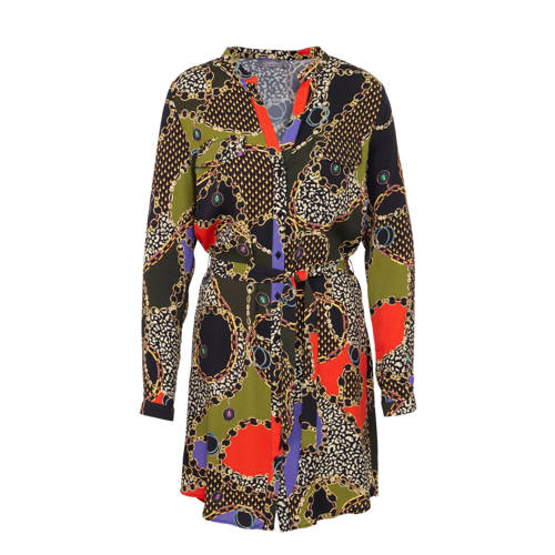 Geisha jurk met all over print