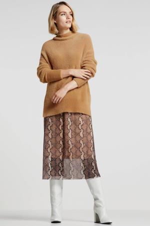 trui met textuur camel
