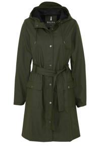 Rains Curve jacket regenjas grijs, Groen