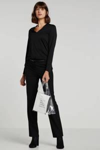ESPRIT Women Collection tapered fit pantalon zwart, Zwart