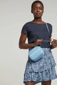 edc Women T-shirt met open detail blauw, Blauw