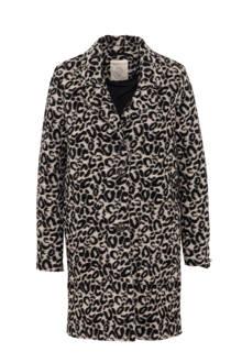 coat met dierenprint