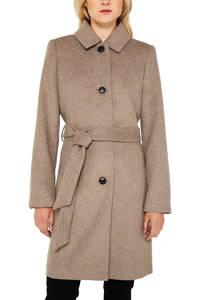 ESPRIT Women Collection coat met strikceintuur bruin, Bruin