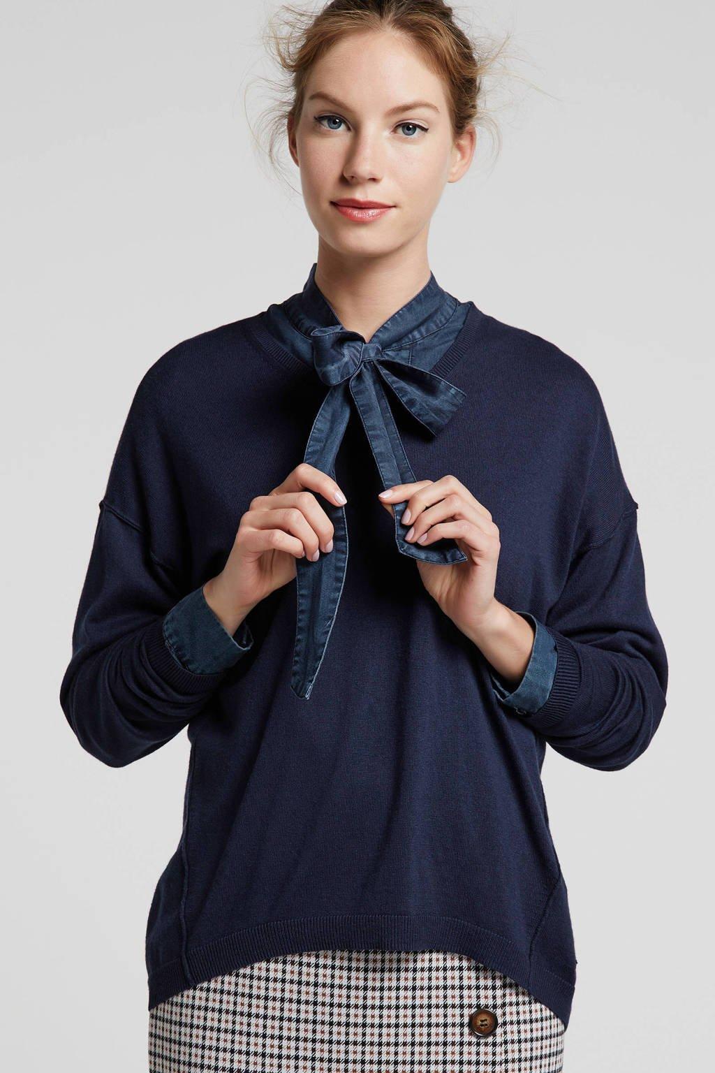 edc Women sweater donkerblauw, Donkerblauw