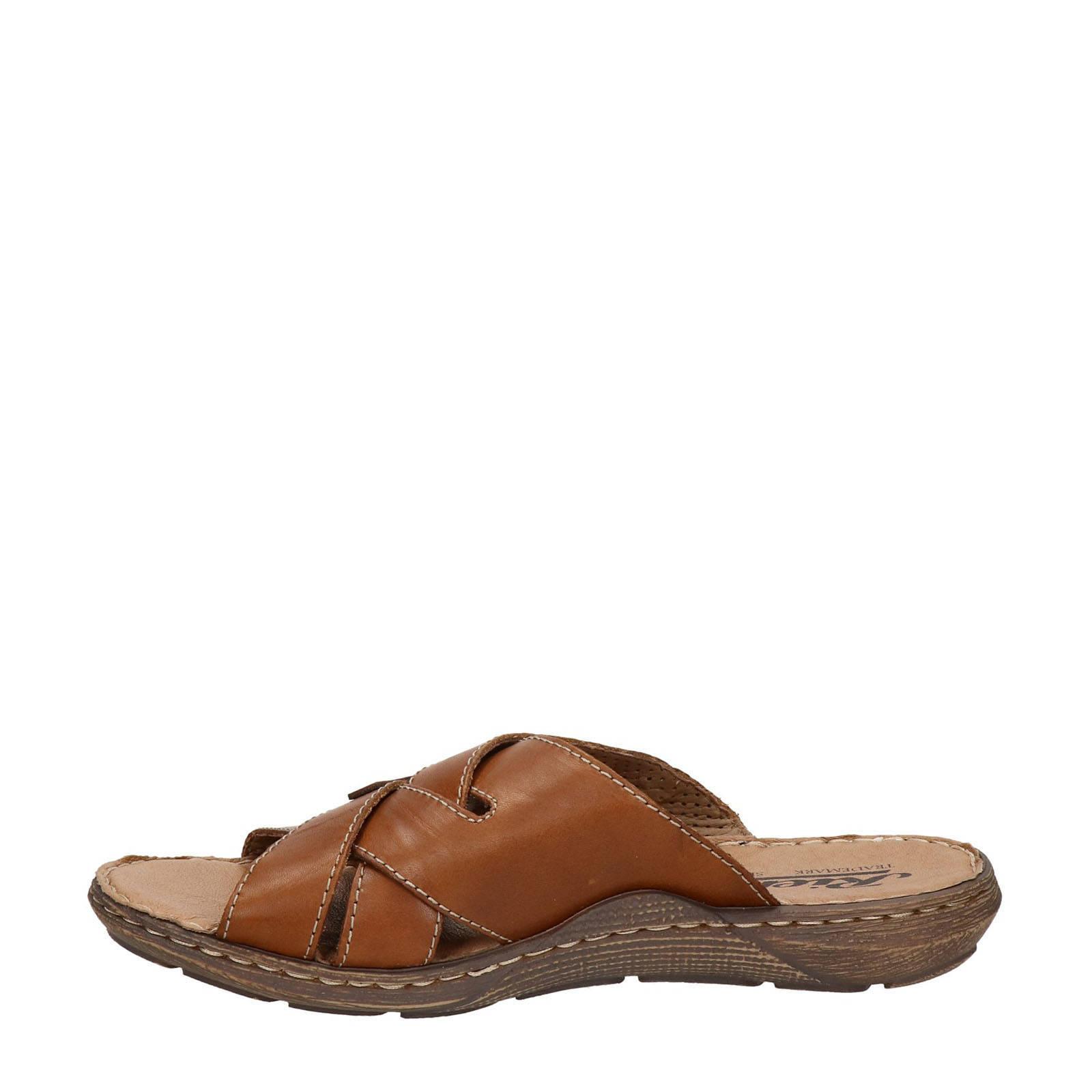leren slippers bruin