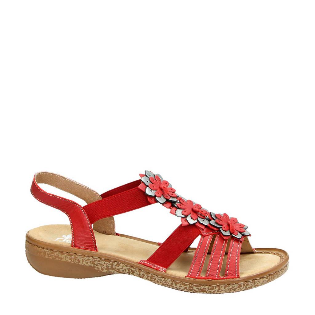 Rieker sandalen rood, Rood