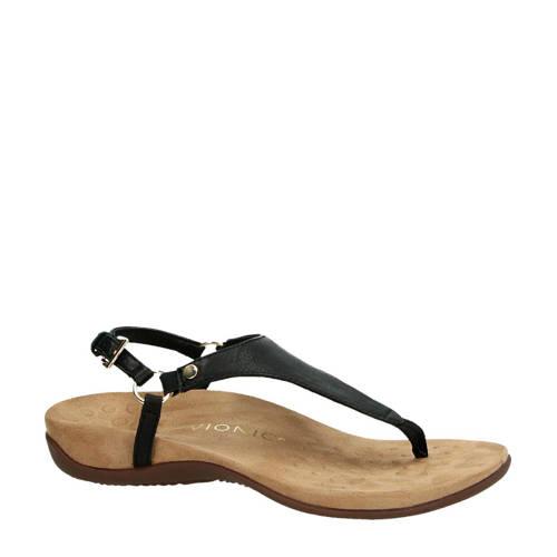 Vionic Kirra leren sandalen zwart kopen