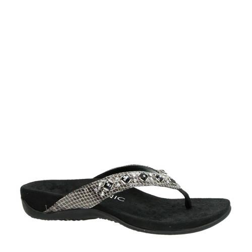 Vionic Floriana teenslippers zwart/zilver kopen