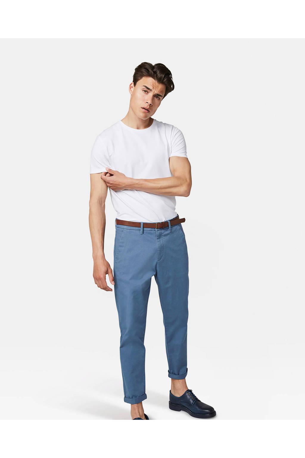 WE Fashion loose fit chino blauw, Blauw