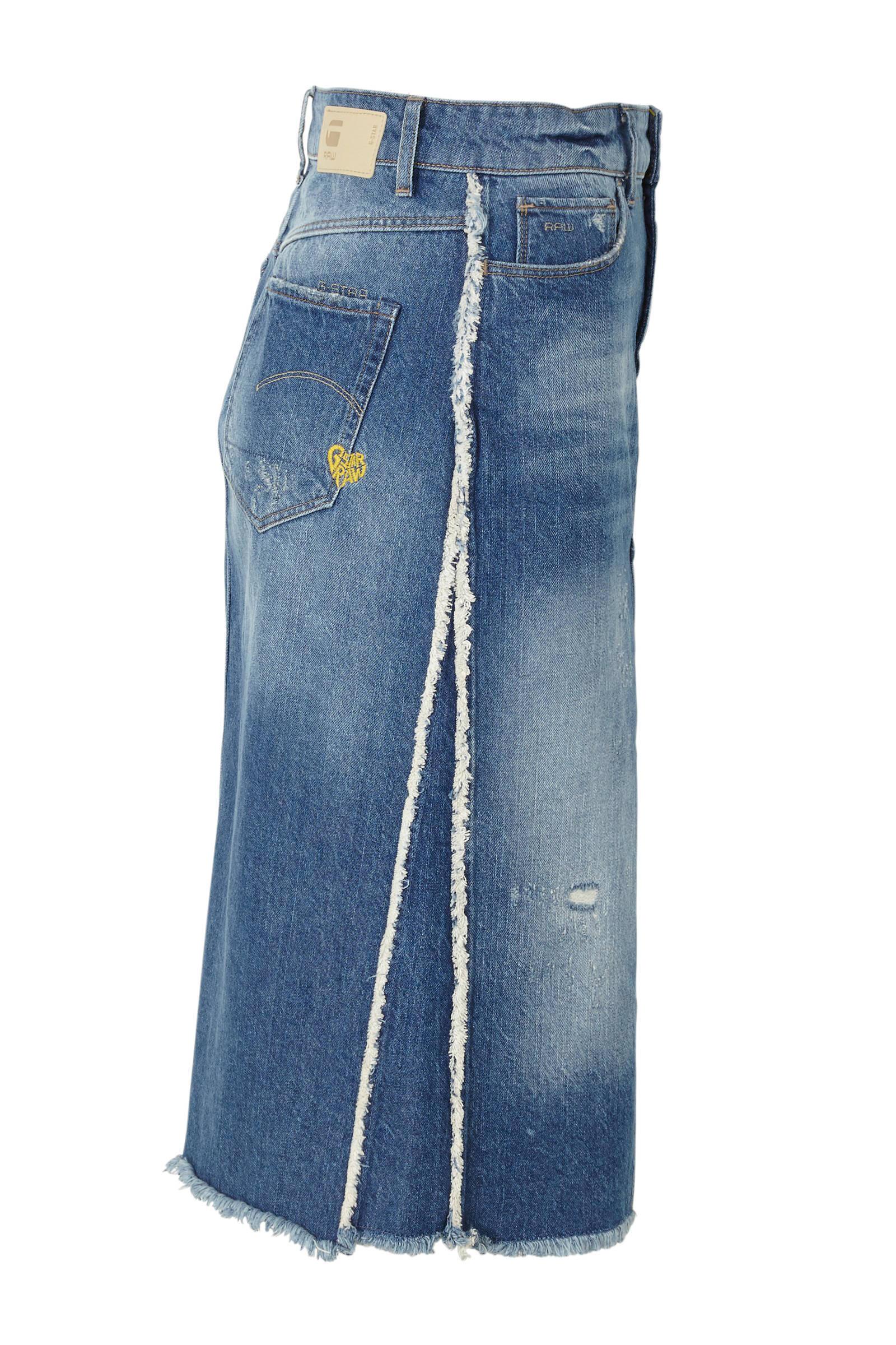 Wonderbaarlijk G-Star RAW spijkerrok met slijtagedetails   wehkamp RW-05
