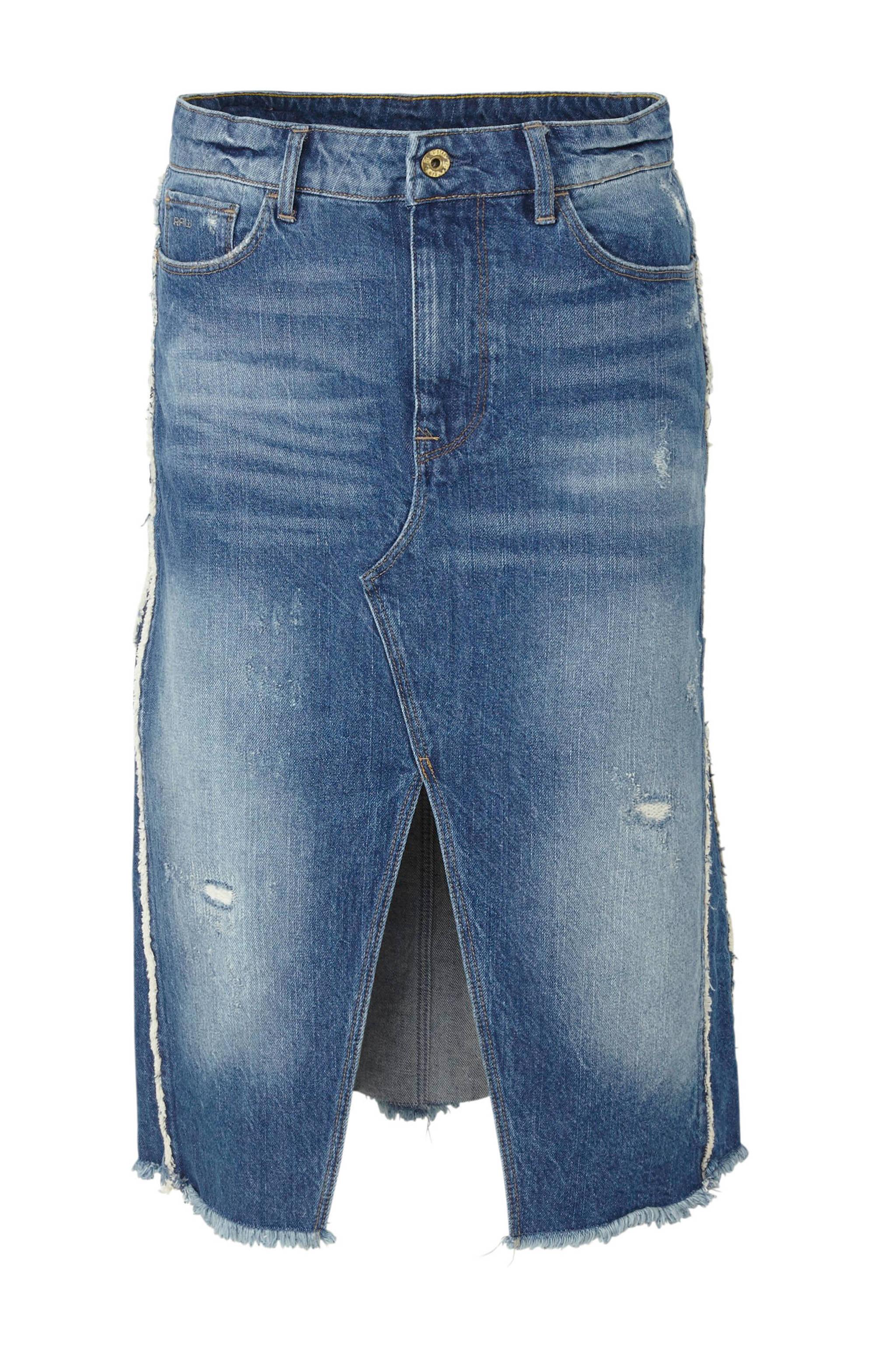 Fonkelnieuw G-Star RAW spijkerrok met slijtagedetails   wehkamp YY-86